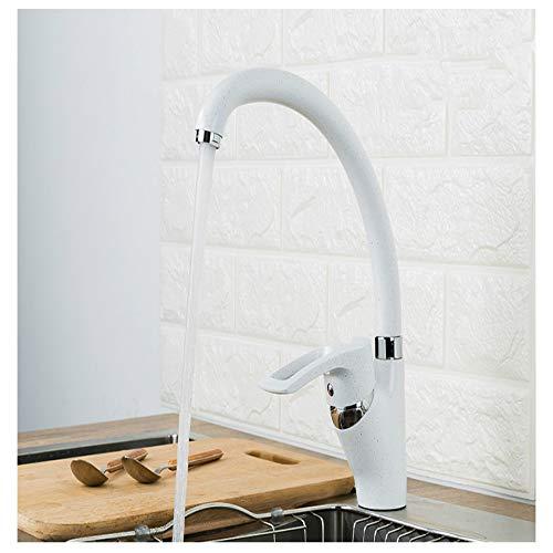 Grifo de la cocina Grifo de pintura en aerosol multicolor moderno Mezclador de agua fría y caliente Sola manija 360 Turn B
