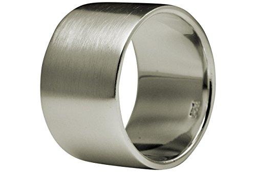 SILBERMOOS Anillo para hombres y mujeres pareja clásico Plata esterlina 925, Tamaño del anillo:22