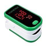 Fesjoy Pulsossimetro da dito per uso domestico, monitor portatile leggero per ossigeno nel sangue...