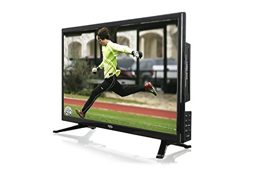 Xoro HTC 2446 60 cm (23,6 Zoll) LED Fernseher mit DVD-Player (HD-Ready, Triple Tuner DVB-S2/T2/C H.265/HEVC-Decoder, PVR Ready + Timeshift, USB 2.0 Mediaplayer, CI+ Schacht, 12V) [Energieklasse A] schwarz