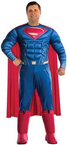 Rubie's mens Adult Men s Batman v Superman Dawn of Justice Deluxe Superman Costume, As Shown, Plus