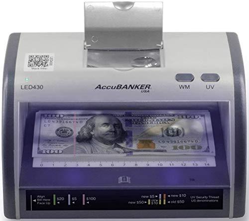 AccuBANKER Cash + Card Counterfeit Detector LED430 Money Checker...