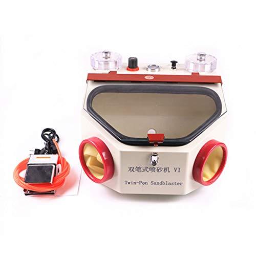 TJIRIS Two-Pen Sandblaster Machine Jewelry Dental Lab Sandblaster Sand Blaster (110V)