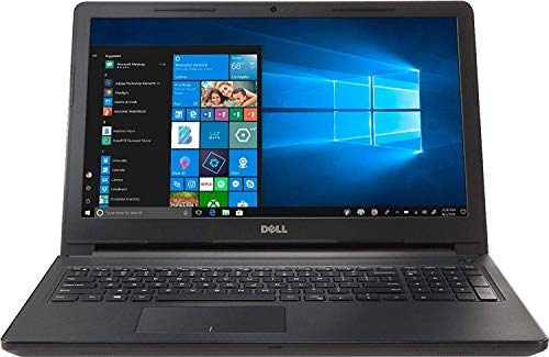Dell Inspiron 15.6-inch HD Premium Laptop PC, Intel Dual Core i3 Processor, 8GB DDR4 Memory, 128GB SSD, No DVD, Bluetooth, Windows 10, Black