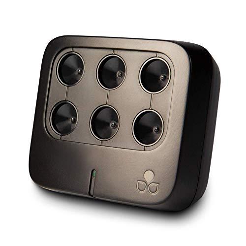 TEQOYA NOMAD Purificatore d'aria silenzioso e discreto | Ionizzatore per ambienti di 30m2 | Bassissimo Consumo Energetico | Senza cambio filtri | Ideale per la camera da letto