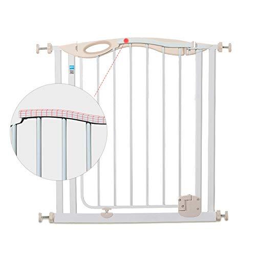 Barrières MAHZONG Porte de sécurité pour Animaux de Compagnie, Porte de sécurité en métal déployée - Porte à rallonge Fixe en métal avec Le Premier Mur Safety First