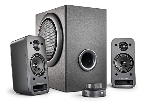 wavemaster MX3+ 2.1 Lautsprecher System (50 Watt) Aktiv-Boxen für TV/Tablet/Smartphone/PC schwarz (66503)