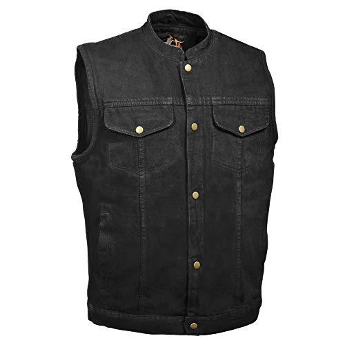 Milwaukee Performance DM2238 Men's Black Denim Snap Front Club Vest with Gun Pocket - X-Large