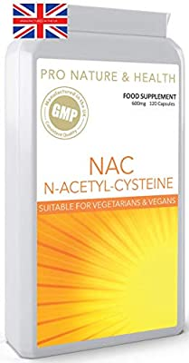 NAC N-Acetyl-Cysteine | 600mg x 120 Capsules | Suitable for Vegans & Vegetarians | Manufactured in The UK