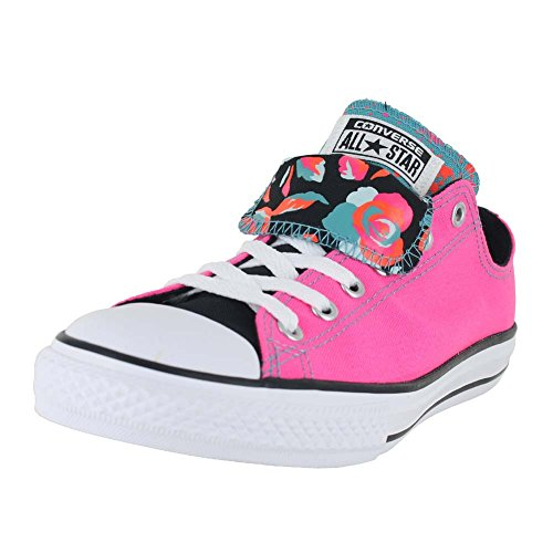 Converse Unisex Chuck Taylor All Star Ox Low Top Classic NEON PINK WHITE BLACK Sneakers - 2.5 LITTLE KID M