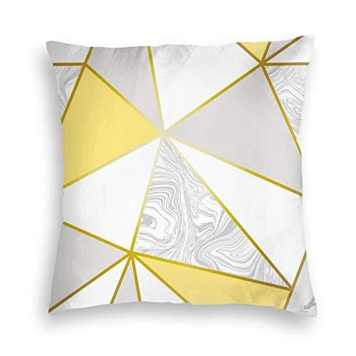 Zara - Fundas de cojín para sofá, dormitorio, coche, con cremallera invisible, color dorado y mostaza