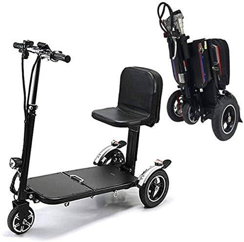 Erik Xian Power Wheelchair Electric Mobility Scooters for Adults,Foldable Lightweight Power Wheelchair 3-Wheel Handicap Scooter Folding Tricycles for Travel Seniors Comfortable and Safe Travel Electric Wheelchairs