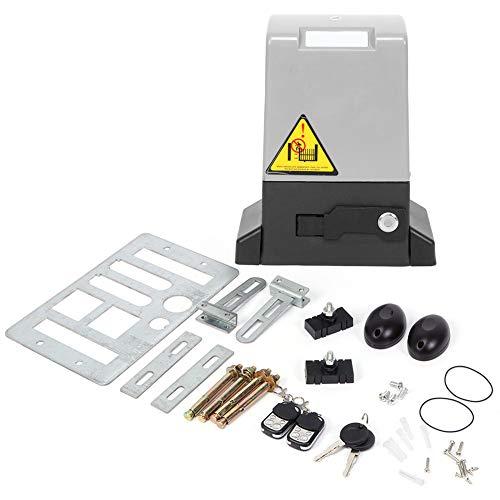 370 W 600 kg regolabile automatico porta scorrevole Apriporta kit, Motore per Cancello Scorrevole Porta da Garage Scorrevole, con telecomando tasto di rilascio automatico operatore