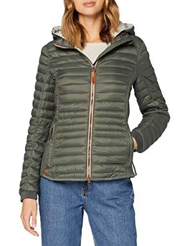 camel active Womenswear Damen 3302709E5034 Jacke, Khaki, 40