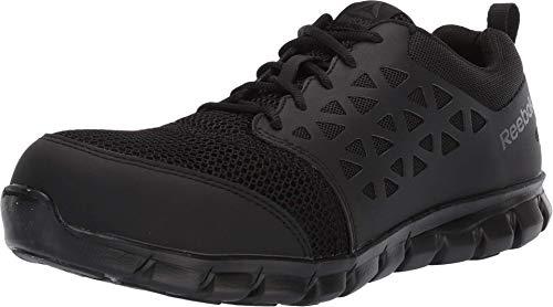 Reebok Work Men's Sublite Cushion RB4039 Safety Toe Athletic Work Shoe, Black, 10 M US
