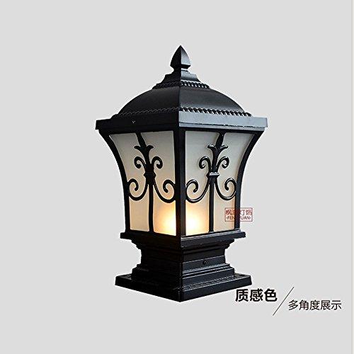 Pumpink Vintage Square Outdoor E27 Säule Licht Pfeil Blume Villa Garten Lampe Patio Light Wasserdichtes Glas Retro Grass Gate Laternenpfahl Laterne Continental Patio Zaun Spalte Lampe