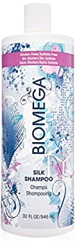 BIOMEGA Silk Shampoo 32 Oz Shampoo Enriched with Omega Oils and Mango Seed Butter UV Protectants Help to Keep Hair from Fading Transforms Curly Unruly Hair