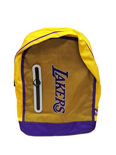 Franco Panini. Mochila escolar NBA Los Angeles Lakers, redonda, 40 x 25 x 15 cm, producto oficial