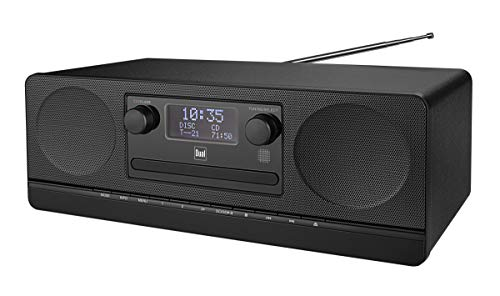 Dual DAB 420 BT Schwarz • Stereoanlage • DAB+ • UKW • Sendersuchlauffunktion • AUX-IN • USB-Anschluss • CD-Abspieler • MP3 • Senderspeicher • Fernbedienung • Kopfhöreranschluss