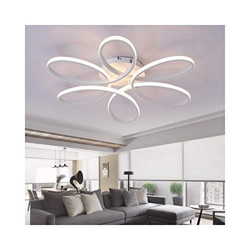 Cristal de la granja Araña de LED for comedor Sala de estar Sala de estar Vestíbulo Aluminio Rebanada Cuerpo Iluminación for el hogar, 220 V Para comedor (Body Color : Dia580 75W)