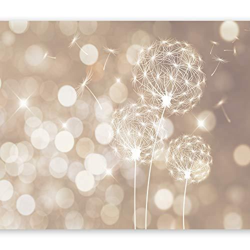 murando - Fototapete 350x256 cm - Vlies Tapete - Moderne Wanddeko - Design Tapete - Wandtapete - Wand Dekoration - Pusteblume Blumen bokeh Abstrakt beige weiß f-C-0040-a-d