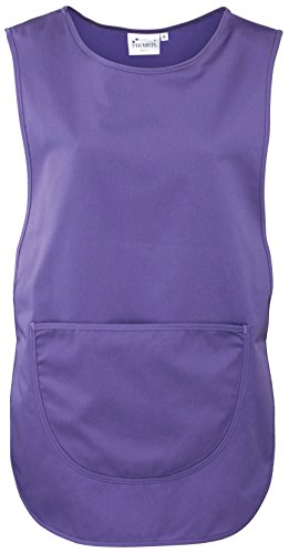 Premier Workwear Ladies Pocket Tabard Top, Nero, XL Donna