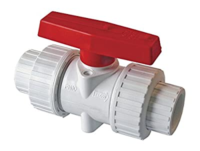 "American Valve P200U-40 3/4"" PVC True Union Ball Valve Socket Ends, 3/4-Inch from American Valve"