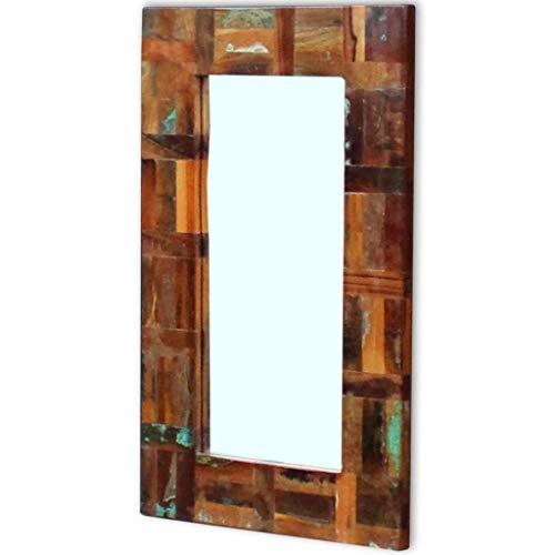 Espejo de Madera Reciclada 80x50 cm Baño Habitación Pasillo