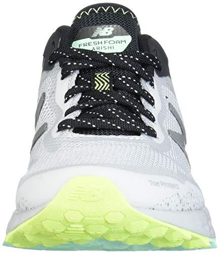New Balance womens Fresh Foam Arishi V1 Trail Running Shoe, Light Aluminum/Black/Neo Mint, 8.5 Wide US