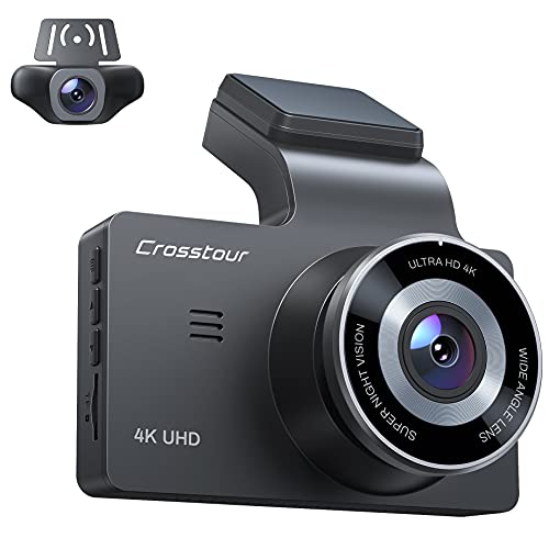 Dash Cam, Front and Rear 4K Car Camera GPS Dash Camera for Cars 3 Inch 170° Wide Angle Car Dashboard Recorder with Parking Monitor Night Vision G Sensor Loop Recording