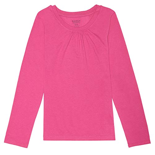 French Toast girls Long Sleeve Crewneck Tee School Uniform Polo Shirt, Rose Violet, 4 US