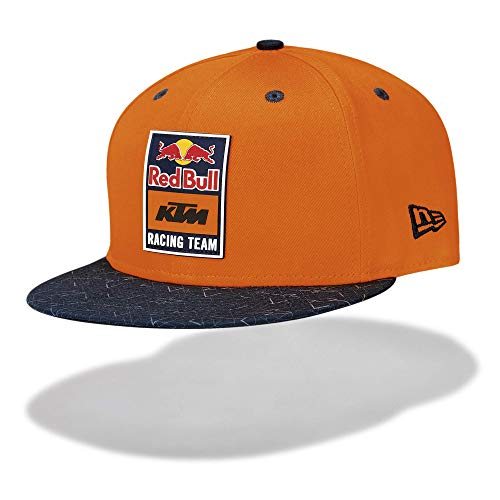 Red Bull KTM New Era 9FIFTY Patch Flat Cap, Gris Unisex One Size Flat Cap, KTM Factory Racing Original Bekleidung & Merchandise