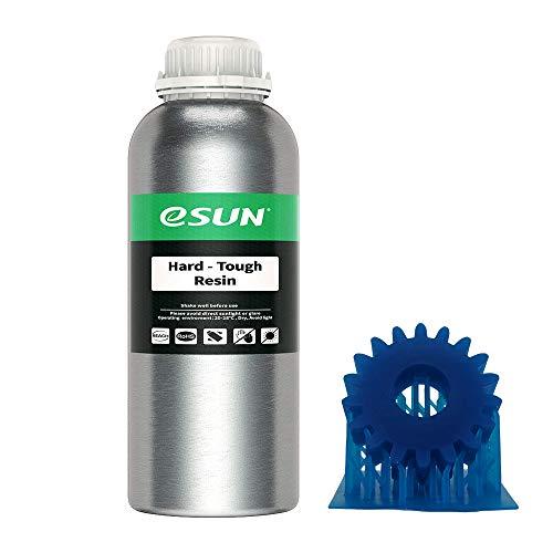 eSUN Resina ABS-Like UV 405nm Resina Rápida para Impresora 3D LCD Curado UV Resina Alta Dureza y Tenacidad Resina de Fotopolímero Líquida de Impresión 3D, 1000g Azul