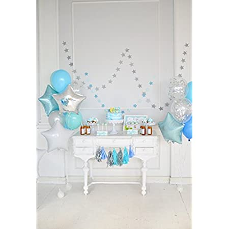 Yeele 6x6ft Kids Birthday Baby Shower Party Backdrop for Photography Interior Balloon Gifts Background Party Banner Children Baby Photo Booth Shoot Vinyl Studio Props