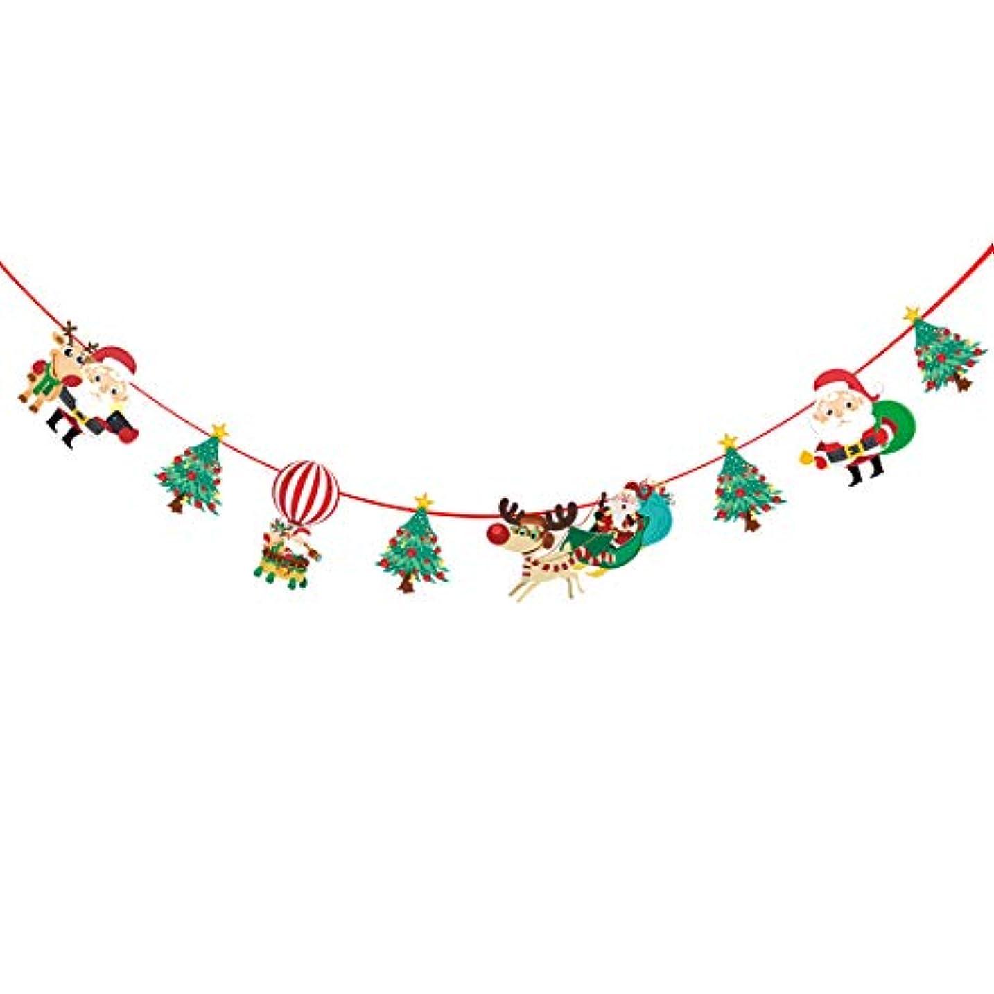 ペルメルプロット冷えるメリークリスマスの飾り バナー旗の飾り 漫画 飾る 家の装飾 クリスマスツリー