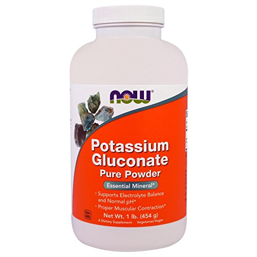 Now Foods Potassium Gluconate Powder, 454g