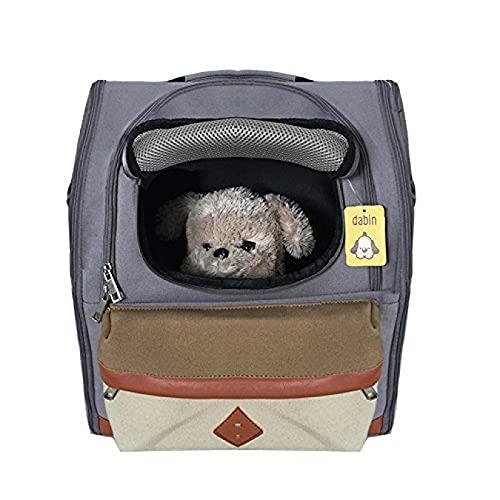 ZHJIUXING ST Transportn Mochila Perros Gatos Mascotas,Bolsa Transporte Extensible Plegable Transpirable y Espaciosa,Bolsa Portadora para Viaje