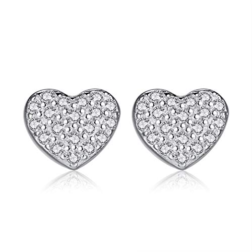 Hook, pendant, decoration, buckle, jewelry, accessories 925 silver love fashion female full drill-shaped earrings student