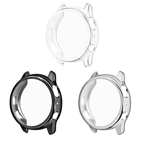 3-Pezzi Cover per Samsung Galaxy Watch Active 2 40mm Custodia,Custodia Compatibile con Samsung Active 2 40mm Full Protettivo TPU Caso