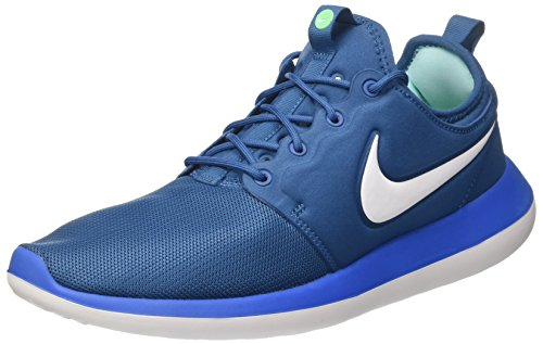 Nike Roshe Two, Chaussures de Course Homme, Bleu (Industrial Blue/White/Photo Blue), 42 EU