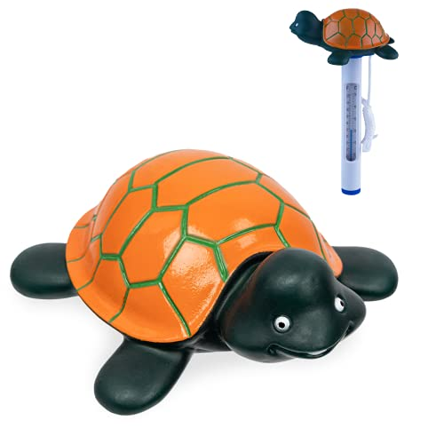 Milliard Floating Pool Thermometer Turtle, Large Size with String, for Outdoor and Indoor Swimming Pools, Hot Tub, Spa and Pond