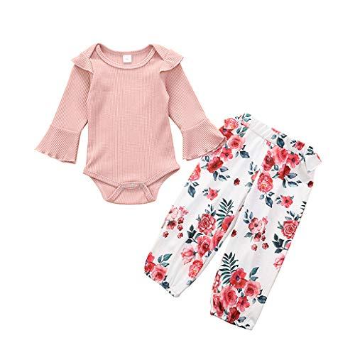 Voberry- (0-24M) Ensemble pour Nourrissons et Tout-Petits,Pantalon de Pyjama à Manches Longues pour Fille
