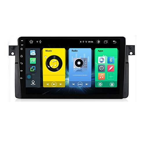 HARBERIDE Android GPS Navegación Car Stereo Player 9 Pulgadas 1080P HD Pantalla Táctil Multimedia for BMW E46 1998-2006 Coche Audio Radio FM/Am/RDS Radio Video Player BT SWC Estéreo,C300