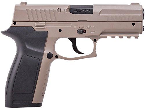 Crosman MK45 CO2 Powered, Semi Auto Dual-Tone BB Air Pistol, Multi, One Size