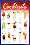 1art1 Cocktails Poster und Kunststoff-Rahmen - Mixology,