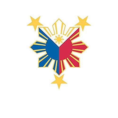 Filipino Pride Star Sun Die Cut Philippines Printed Decal Sticker - 5' Sticker for Cars Windows Notebooks Lockers Etc