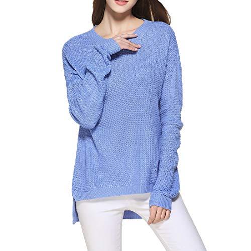 Pullover Damen Sexy Elegant Oberteil Damen Langarmshirts Rundhals Herbst Sweatshirt...