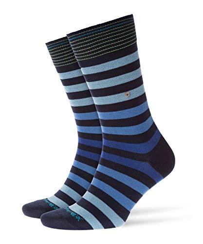 Burlington Herren Blackpool M SO Socken, Blickdicht, Blau (Marine 6121), 40-46