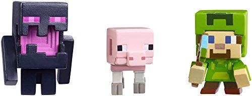 Minecraft Halloween Series Action Figure (3 Pack) - Steve with Hoodie, Skeleton Pig & Endereal
