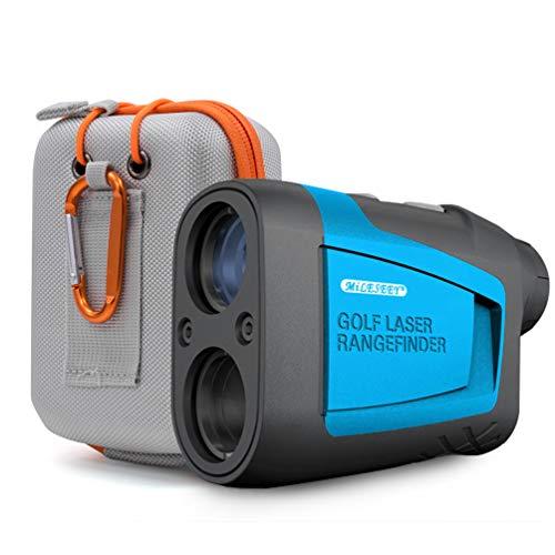 HITBOX Golf Entfernungsmesser 660 Yards mit Hangkompensation, schnellem Fahnenmastschloss, 6 facher Vergrößerung, Entfernungs/Winkel/Geschwindigkeitsmessung für das Golfjagd Bogenschießen